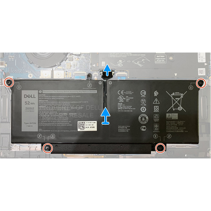 laptop battery for Dell Latitude 7410 2in1