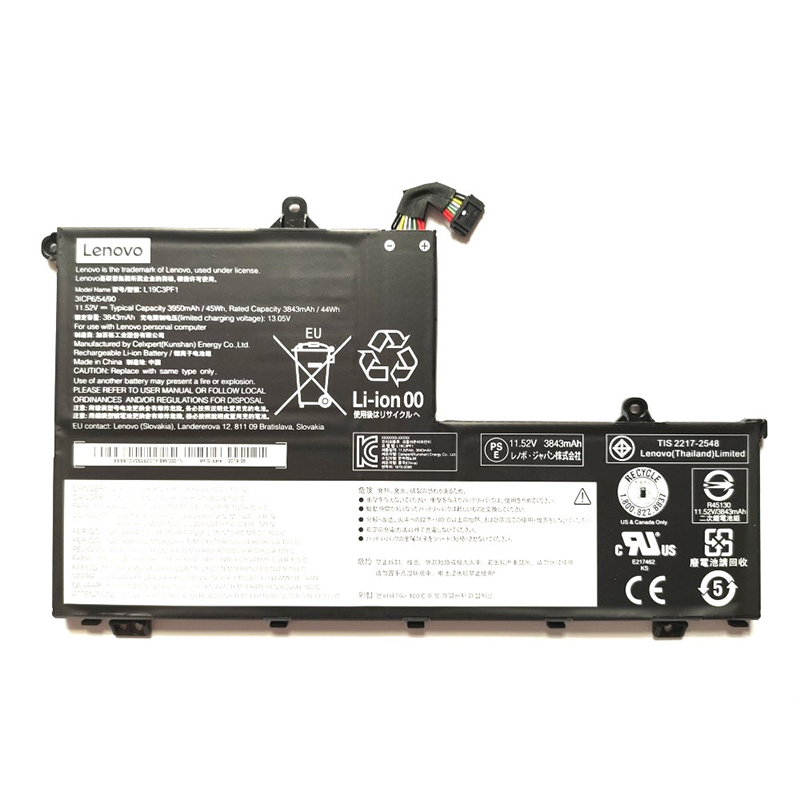 laptop battery for Lenovo L19C3PF9